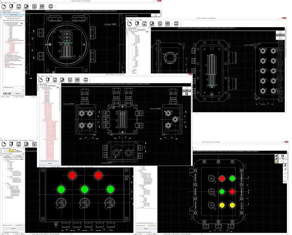 Система автоматизированного проектирования «ГорэлтЕх» (САПР «ГорэлтЕх») для создания чертежей взрывозащищенных клеммных коробок.